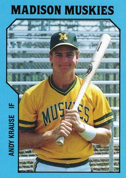 1985 TCMA Madison Muskies #21 Andrew Krause Front