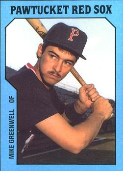 1985 TCMA Pawtucket Red Sox #4 Mike Greenwell Front