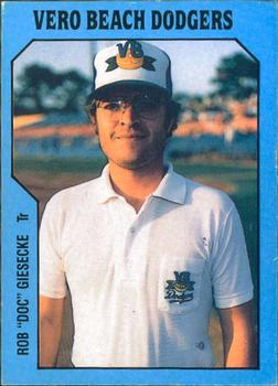 1985 TCMA Vero Beach Dodgers #24 Rob Giesecke Front