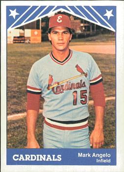 1983 TCMA Erie Cardinals #12 Mark Angelo Front