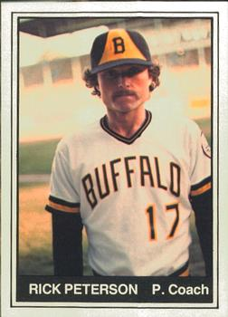1982 TCMA Buffalo Bisons #17 Rick Peterson Front