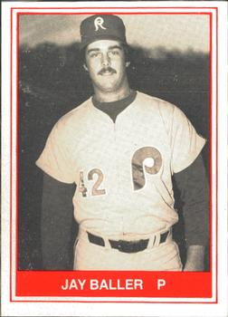 1982 TCMA Reading Phillies #1 Jay Baller Front