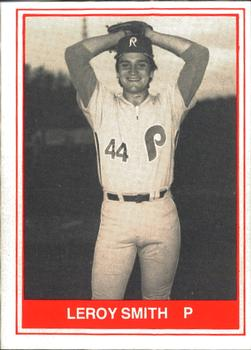 1982 TCMA Reading Phillies #8 Leroy Smith Front