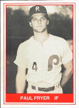1982 TCMA Reading Phillies #14 Paul Fryer Front