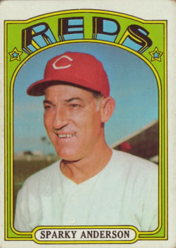 1972 Topps #358 Sparky Anderson Front