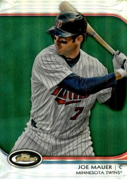 2012 Finest - Green Refractors #83 Joe Mauer Front