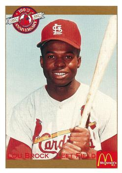 1992 Pacific McDonald's St. Louis Cardinals #30 Lou Brock Front