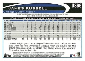 2012 Topps Update - Wal-Mart Blue Border #US66 James Russell Back