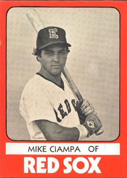 1980 TCMA Elmira Pioneer Red Sox #27 Mike Ciampa Front