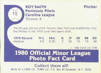 1980 TCMA Peninsula Pilots B/W #12 Roy Smith Back