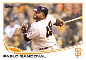 2013 Topps #456 Pablo Sandoval Front