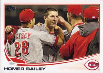 2013 Topps #585 Homer Bailey Front