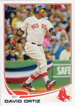 2013 Topps #595a David Ortiz Front