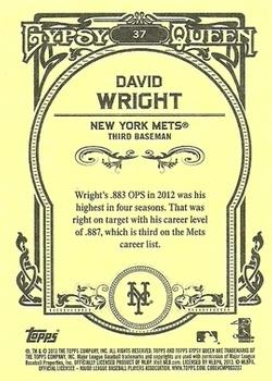 2013 Topps Gypsy Queen #37 David Wright Back