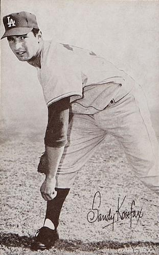 1947-66 Exhibits W461 #NNO Sandy Koufax Front