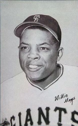 1947-66 Exhibits W461 #NNO Willie Mays Front