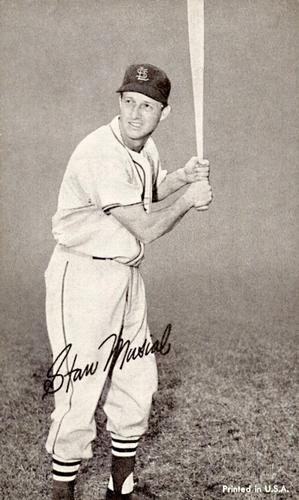 1947-66 Exhibits W461 #NNO Stan Musial Front