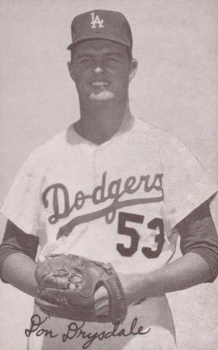 1947-66 Exhibits W461 #NNO Don Drysdale Front