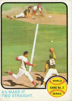 1973 Topps #204 World Series Game 2 - A's Make It Two Straight Front