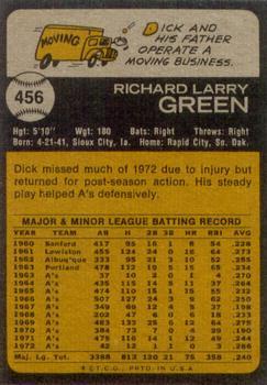 dick green baseball card 1973