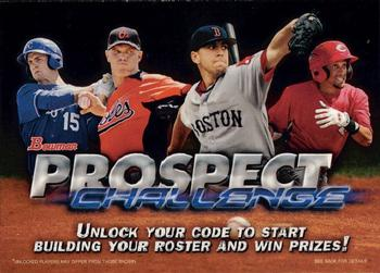 2013 Bowman #NNO Prospect Challenge Game Entry Front