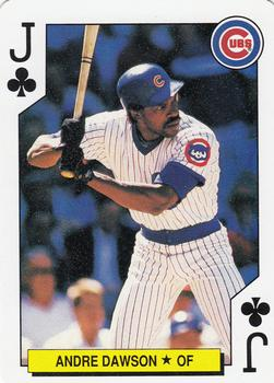 1991 U.S. Playing Card Co. #J♣ Andre Dawson Front