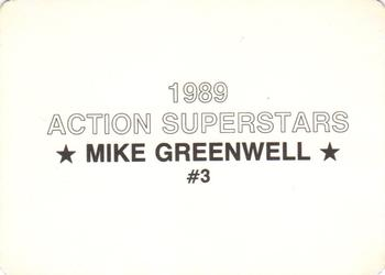 1989 Action Superstars (unlicensed) #3 Mike Greenwell Back
