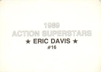 1989 Action Superstars (unlicensed) #16 Eric Davis Back