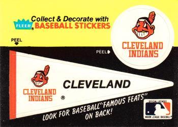 Image result for fleer baseball logo stickers, cleveland Indians