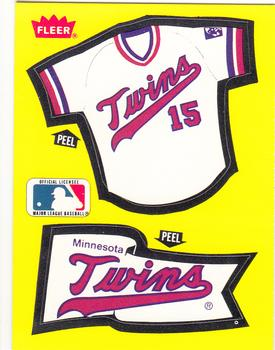 1985 Fleer - Team Stickers Small Print #NNO Minnesota Twins Jersey Front