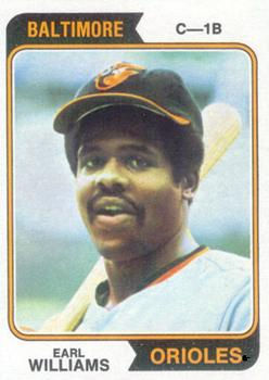 1974 Topps #375 Earl Williams Front