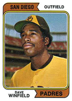 1974 Topps #456 Dave Winfield Front
