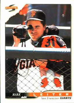 1996 Score #459 Mark Leiter Front