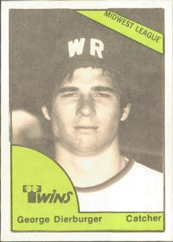 1978 TCMA Wisconsin Rapids Twins #0413 George Dierberger Front