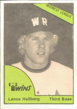 1978 TCMA Wisconsin Rapids Twins #0405 Lance Hallberg Front