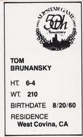1983 All-Star Game Program Inserts #49 Tom Brunansky Back