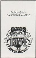 1984 All-Star Game Program Inserts #NNO Bobby Grich Back