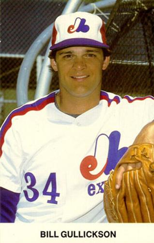 1982 Montreal Expos Postcards #NNO Bill Gullickson Front