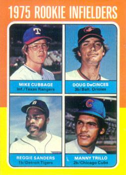 1975 topps 617 rookie infielders mike cubbage doug. Black Bedroom Furniture Sets. Home Design Ideas