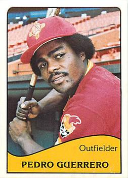 Pedro Guerrero Gallery The Trading Card Database