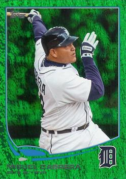 2013 Topps - Emerald Foil #374 Miguel Cabrera Front