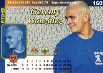 1999-00 Line Up Venezuela Winter League #160 Jeremi Gonzalez Back