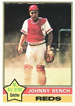 1976 Topps #300 Johnny Bench Front