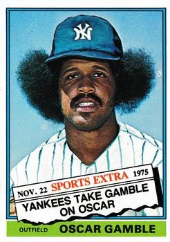 1976 Topps - Traded #74T Oscar Gamble Front
