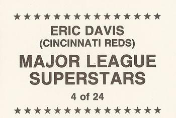 1989 Broder Major League Superstars (unlicensed) #4 Eric Davis Back
