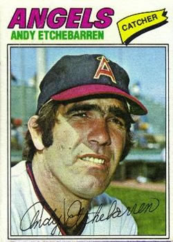 1977 Topps #454 Andy Etchebarren Front