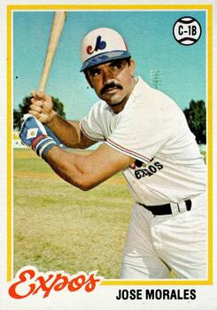 1978 Topps #374 Jose Morales Front