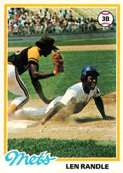 1978 Topps #544 Len Randle Front
