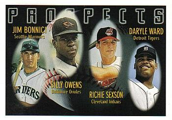 1996 Topps #425 Jim Bonnici / Billy Owens / Richie Sexson / Daryle Ward Front