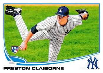 2013 Topps Update #US252 Preston Claiborne Front